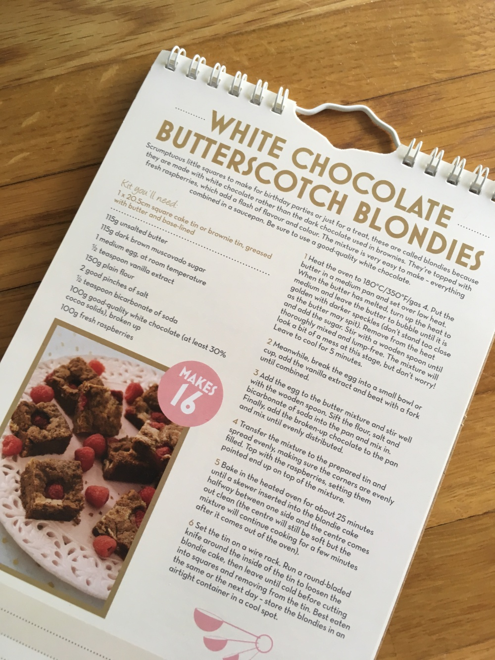GBBO July Recipe White Chocolate Butterscotch Blondies